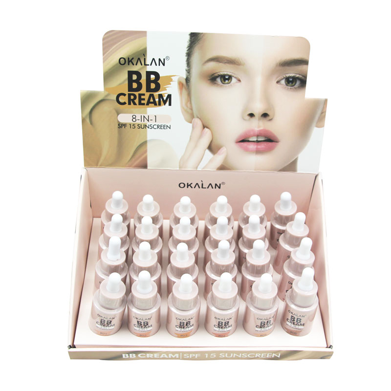 BB CREAM 8 IN 1,  SPF 15 SUNSCREEN, 6 COLOR, 2DZN/DISPLAY